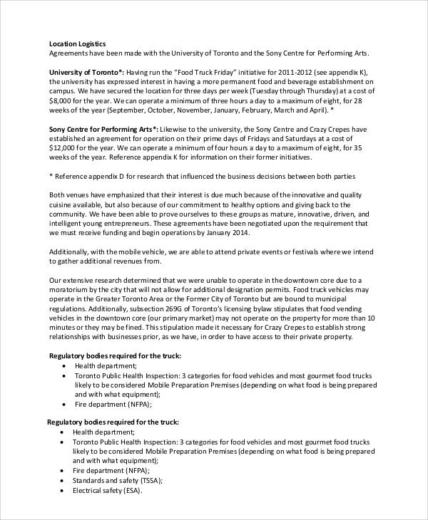 Food truck business plan Custom paper Writing Service bvhomeworknefc - food truck business plan