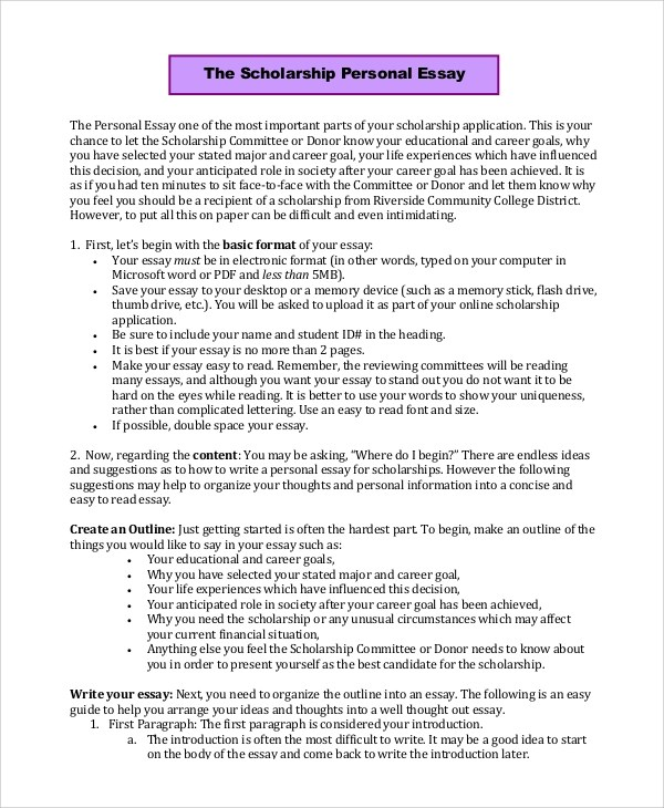 Personal Essay Example - 7+ Samples in PDF