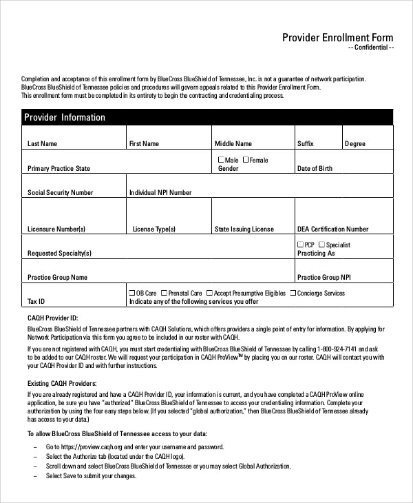 Sample Medicare Form - 8+ Examples in Word, PDF - sample medicare application form