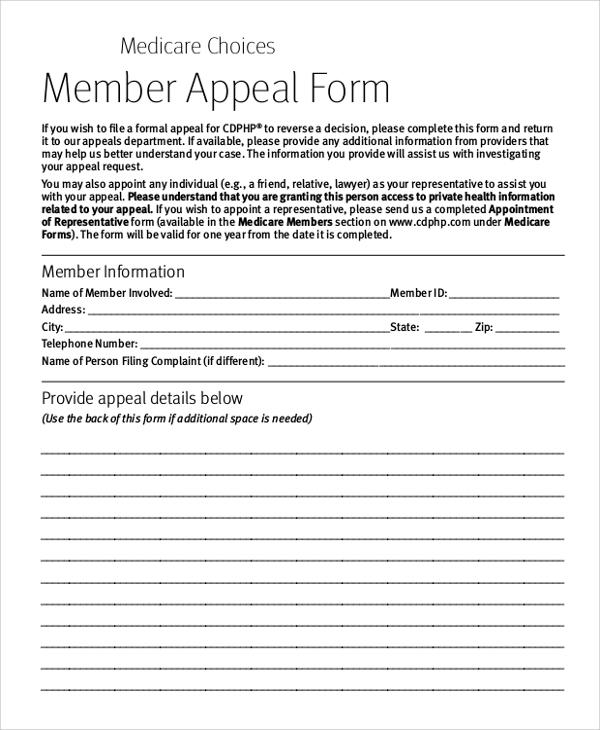 8+ Sample Medicare Forms Sample Templates