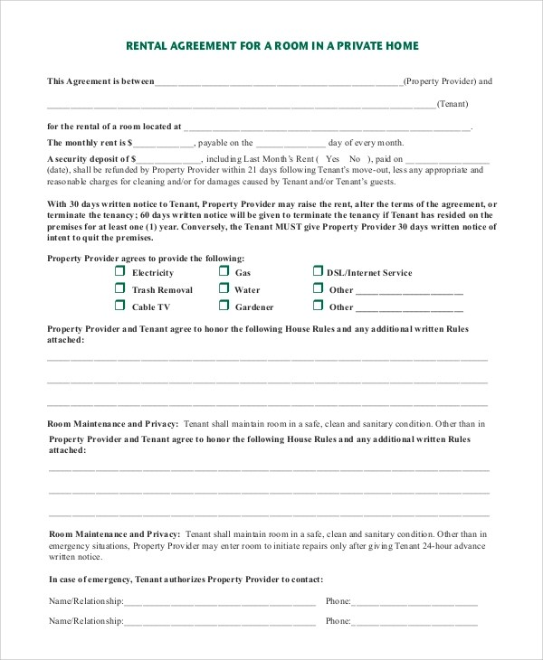 Sample Rental Agreement   9+ Examples In PDF, Word   Sample Home Rental  Agreement