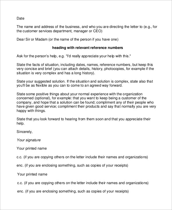 Examples of complaint business letters to a ceo Homework Service - complaint business letters