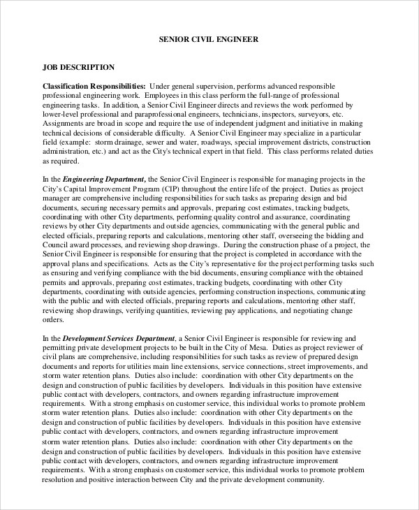 systems engineer environmental structures job description of a - structural engineer job description