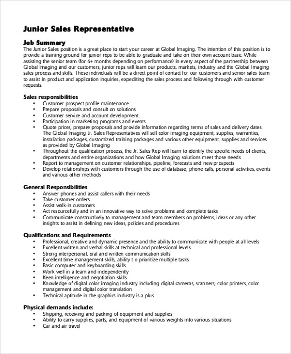 Job descriptions car salesman resume - Car Salesman Resume Sample