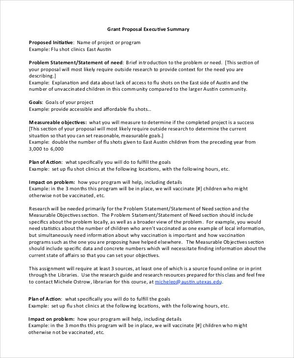 good examples of executive summary