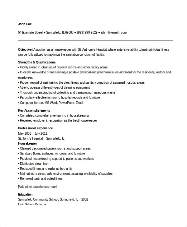 B Tech Freshers Resume Format Blogspot Sample Housekeeping Resume 7 Examples In Word Pdf