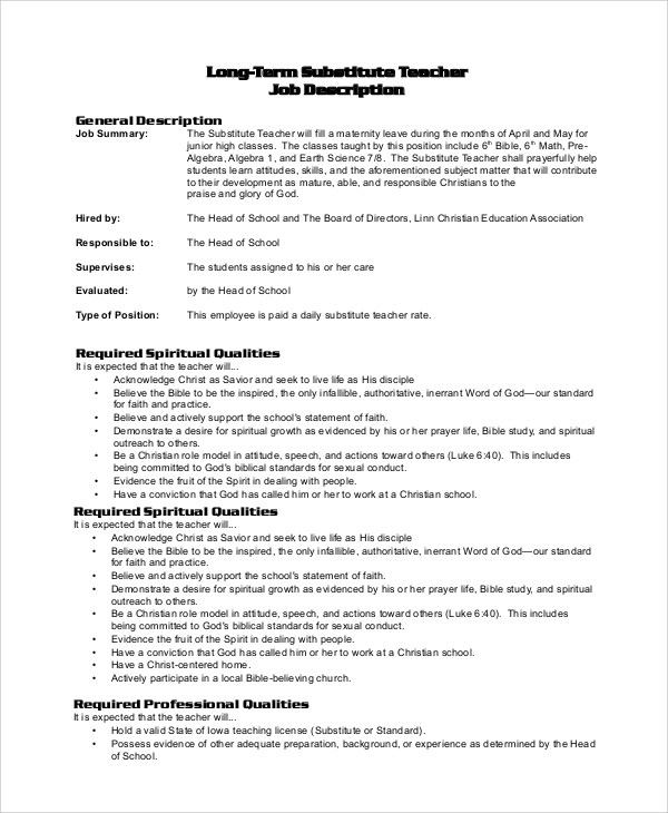 job duties of teacher job description and duties of a computer
