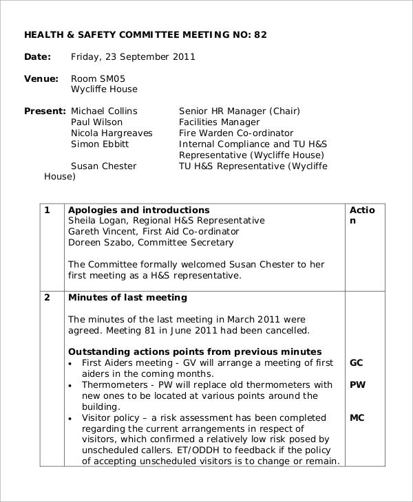 sample of committee meeting minutes - Mucotadkanews