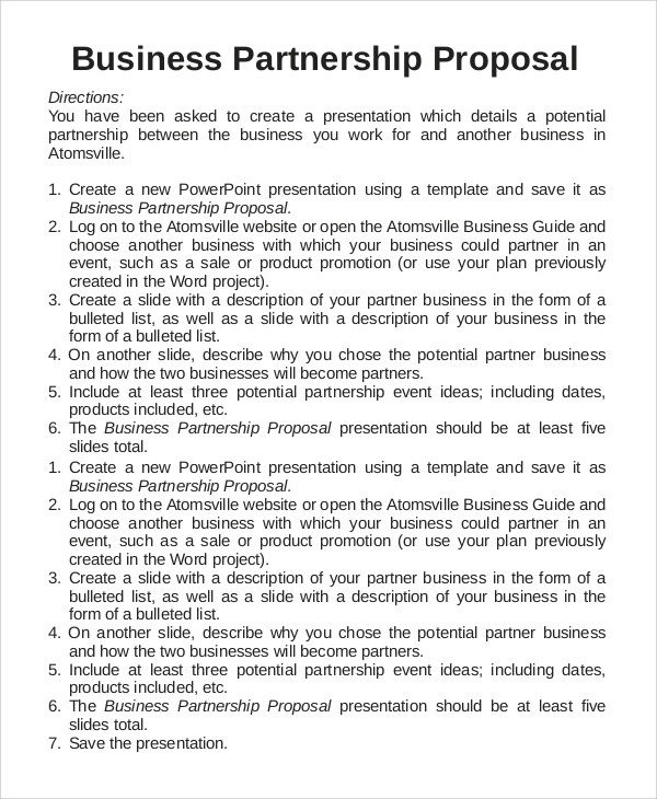 8+ Sample Business Proposals Sample Templates
