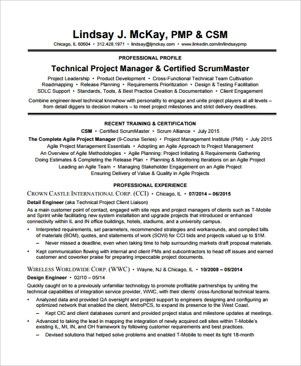 scrum master resume