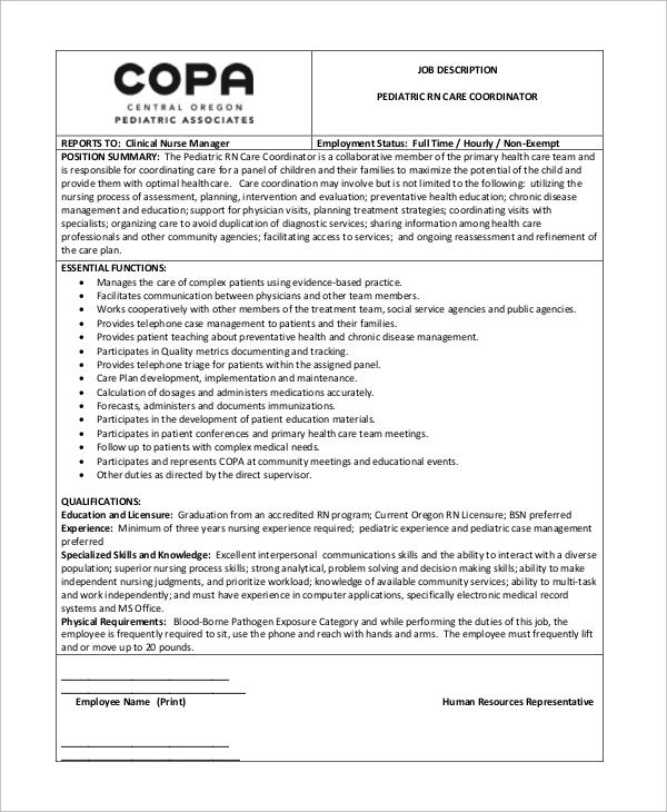 8+ Pediatrician Job Description Samples Sample Templates