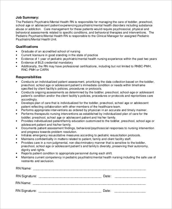 Sample Pediatrician Job Description - 8+ Examples in PDF - pediatrician job description