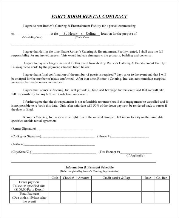 Sample Room Rental Agreement - 8+ Examples in Word, PDF - room rental agreements
