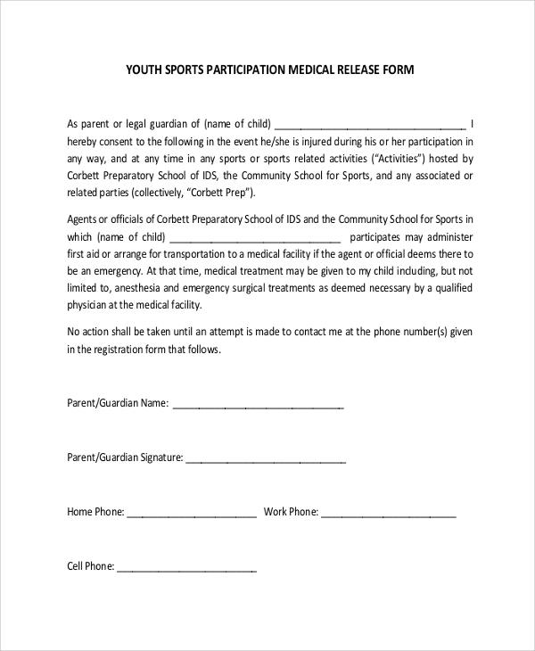 sports release form - Carnavaljmsmusic - letter of medical necessity form