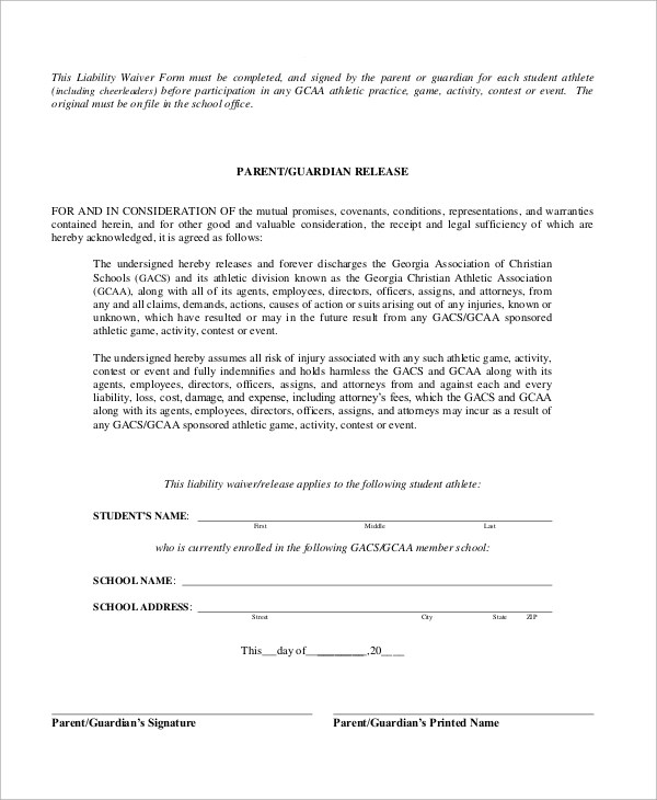 sample liability waiver - Ozilalmanoof - liability waiver template word