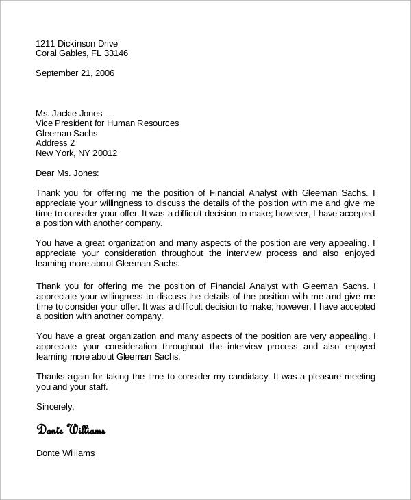 8+ Sample Job Offer Acceptance Letters Sample Templates - thank you letter after offer