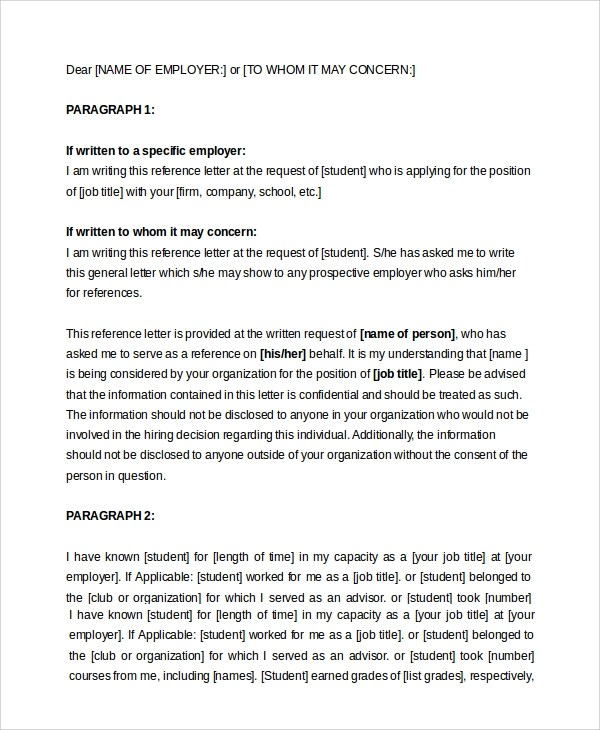 Sample Letter of Recommendation For Employment - 7+ Examples in PDF