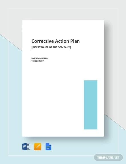 Sample Corrective Action Plan - 14+ Examples in Word, PDF