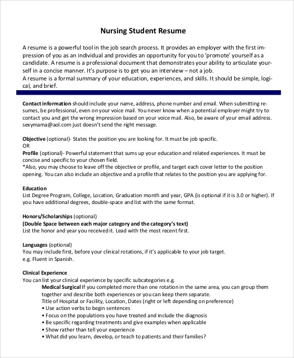Resume Guidelines For Internships Nursing  How To Write A Creative Cv