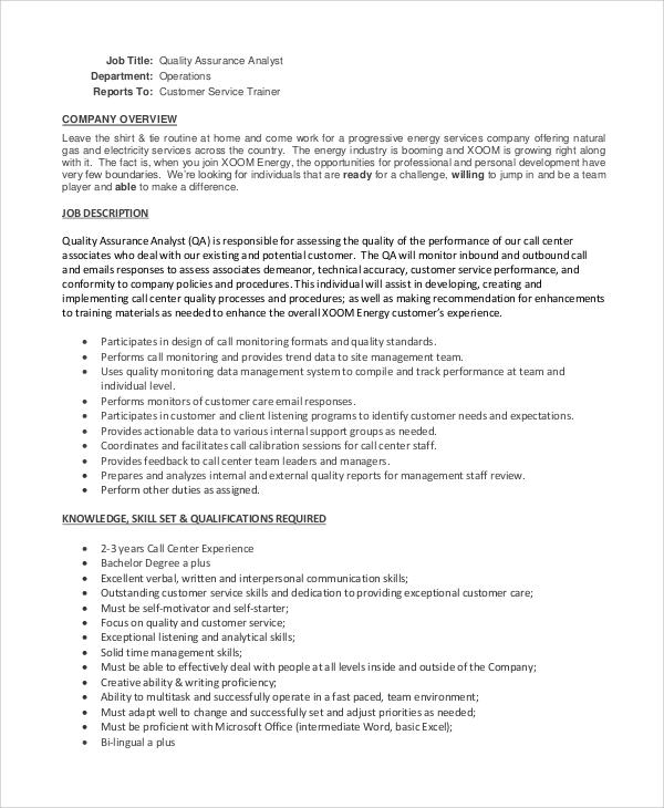 Call center job description resume [nfgaccountability.com]