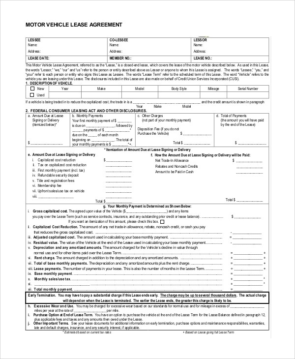 Sample Lease Purchase Agreement - 9+ Examples in PDF, Word - auto purchase agreement template