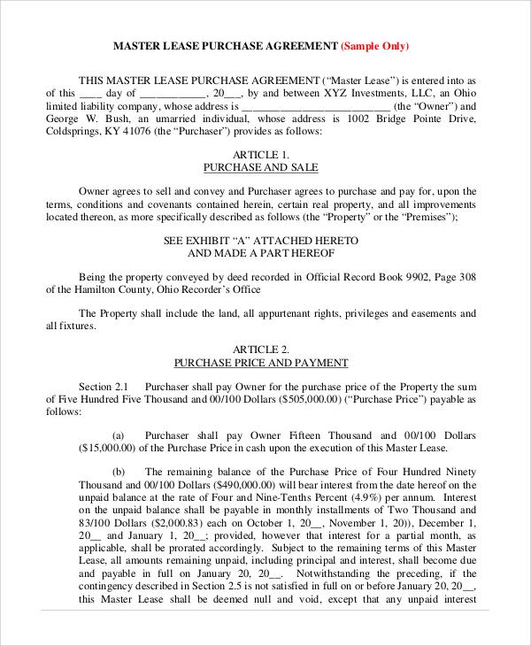 master lease agreement node2004-resume-templatepaasprovider - master lease agreement