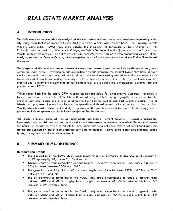 Market Analysis Example Sample Industrial Analysis Industry - competitive market analysis