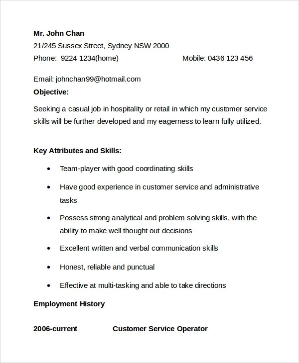 Sample Customer Service Objective - 8+ Examples in PDF, Word