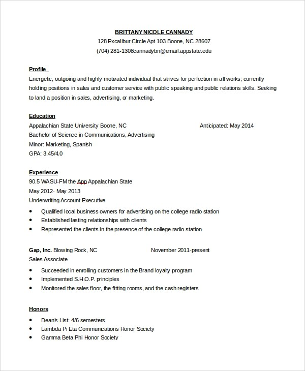 8+ Sample Customer Service Objectives Sample Templates - sales and customer service resume