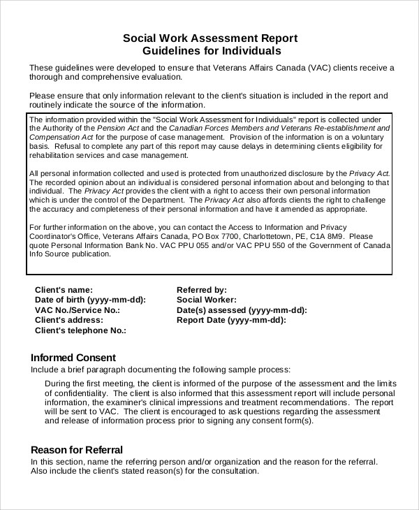 8+ Sample Psychosocial Assessments Sample Templates - psychosocial assessment