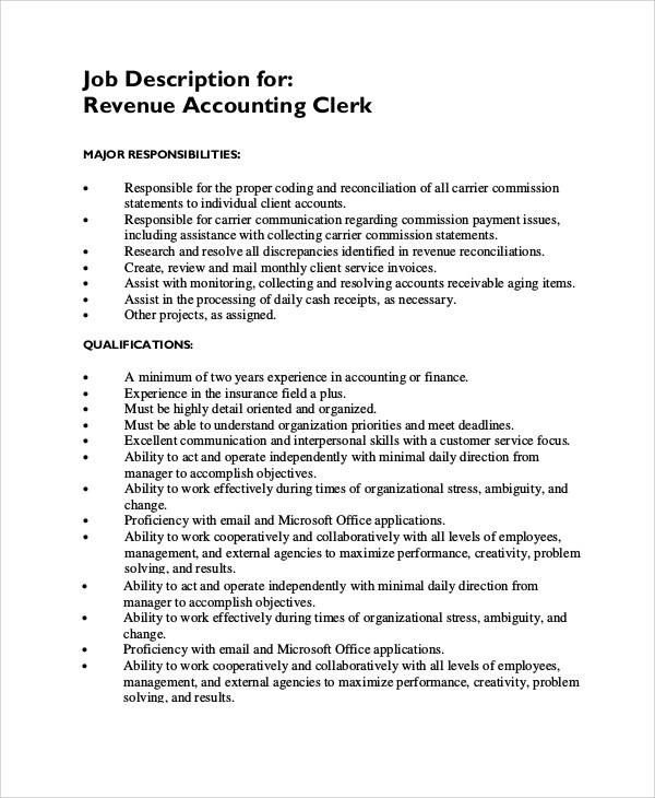 Payroll Clerk Job Description Kaktaktk Payroll Accountant Job - payroll clerk job description
