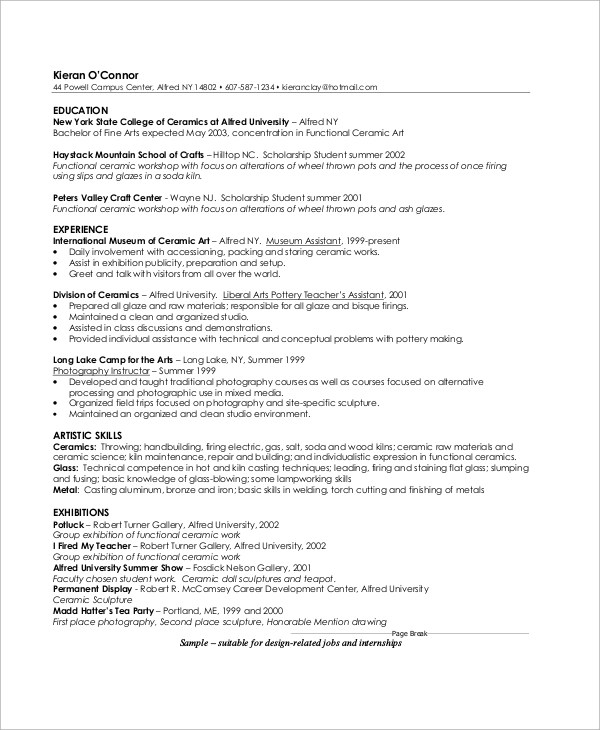 resume sles for experienced testing professionals