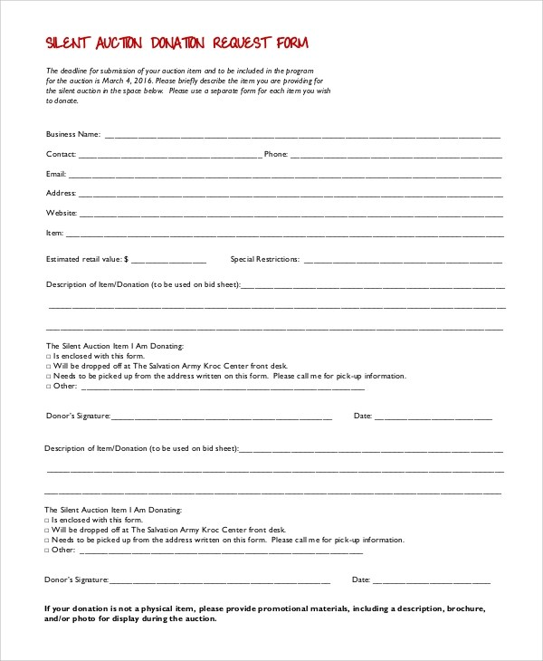 Donation Form Contribution Donation Form Donation Receipt Form - request for donation form template