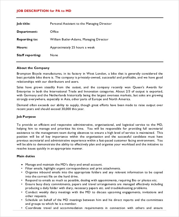 ... Pca Job Description Resume Sample For A Caregiver Caregiver   Pca Job  Description ...