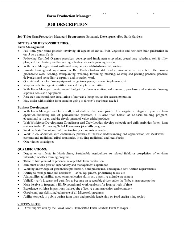 Responsibilities Of A Production Manager maths teacher cv – Production Director Job Description