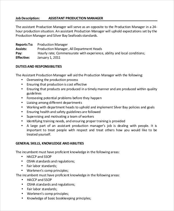 marketing assistant job description sample free resume
