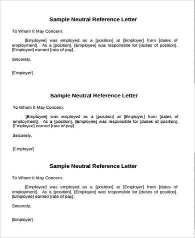 Reference Letter Template 42 Free Sample Example Example Of Reference Letter 11 Samples In Word Pdf