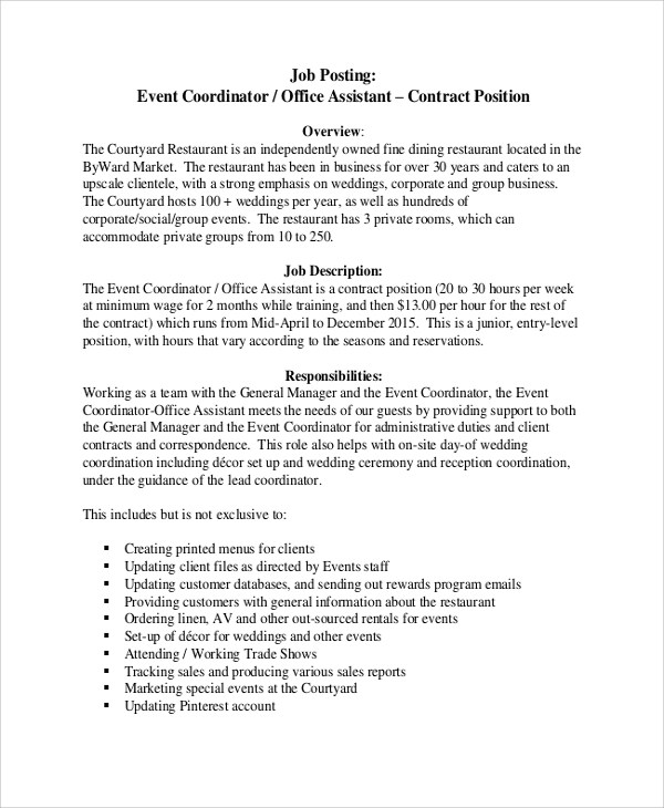 job description sample office assistant - Office Assistant Job Description