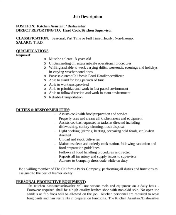 Employee Agreement Format Sample Employment Agreement Free Legal Form  Sample Dishwasher Job Description 8 Examples In