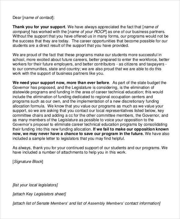 Sample Business Thank You Letter - 7+ Examples in PDF, Word - sample thank you for your business letter