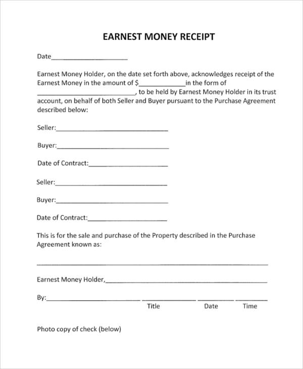 41+ Sample Receipts Sample Templates - money receipts