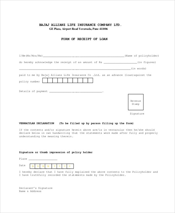 loan payment receipt template [template.billybullock ], Simple invoice