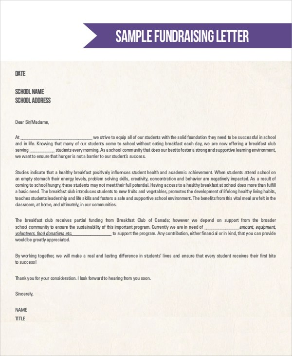 Sample Donation Letter - 10+ Examples in Word, PDF