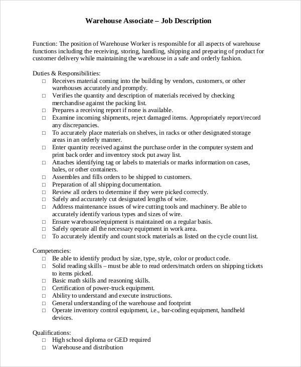 warehouse jobs resume hitecauto - warehouse job description resume