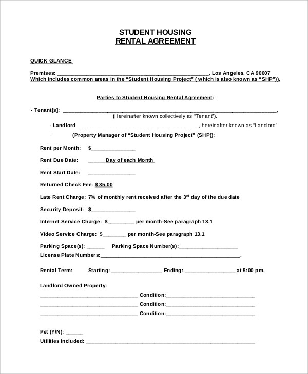 Draft Agreement For House Rent  Government Contract Notification