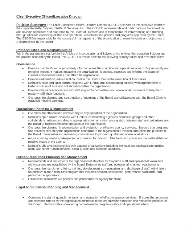 Job Description Sample Marketing Director | Manager Resume