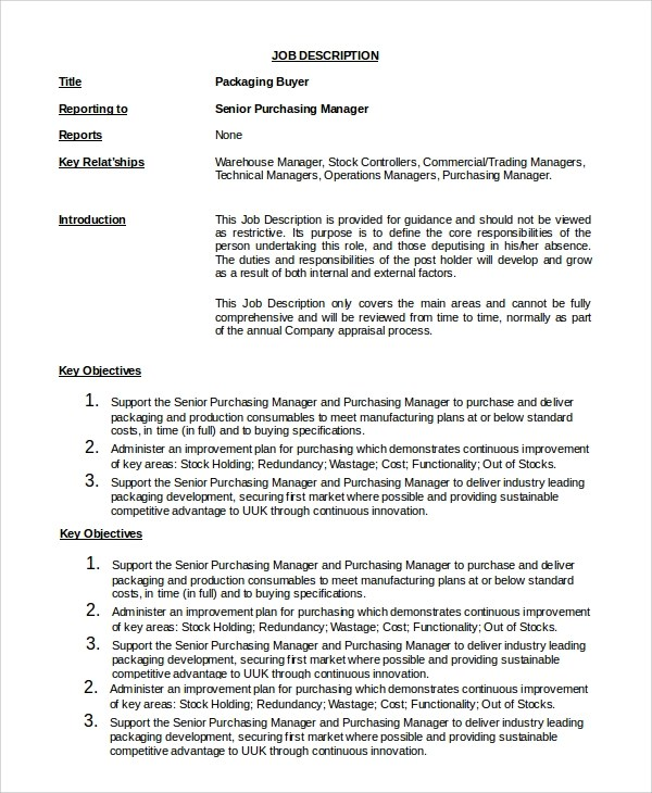 job description fashion buyer cover letter retail examples uk