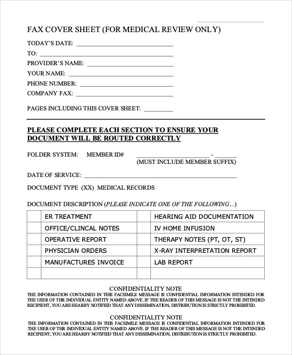 Generic Fax Cover Sheet Sample - 8+ Examples in PDF, Word - fax sheet example