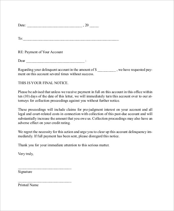 11+ Demand Letters \u2013 PDF, Word Sample Templates - demand letter