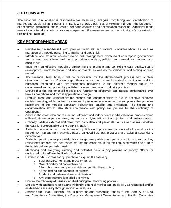 Risk Manager Job Description Workable Risk Management Job - financial manager job description